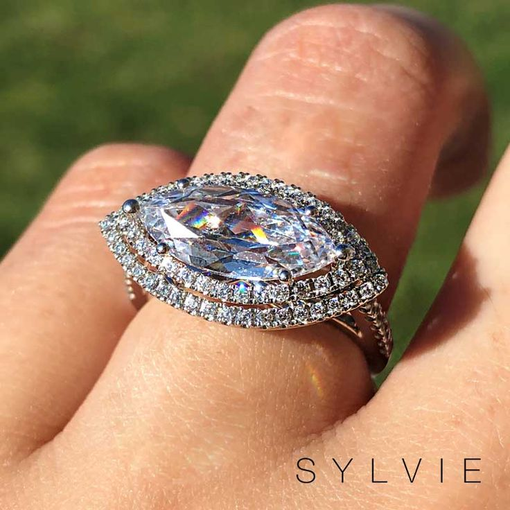 Our #SundayFunday festivities don't start until this gorgeous marquise shaped do… – Get Engaged with Sylvie