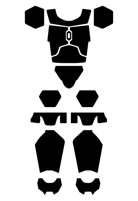 Basic design to go off for my mandolorian armor.