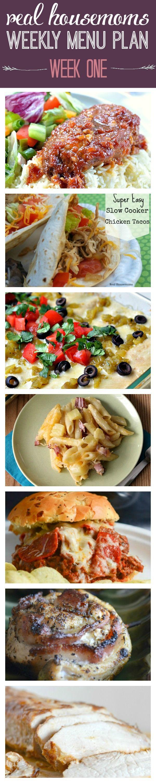 Real Housemoms Weekly Meal Plan   Week One