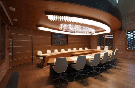 Office meeting room lighting fixtures by axo for Conference room lighting ideas