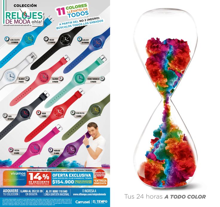 Relojes de Moda El Tiempo Casa Editorial Marzo - 2015