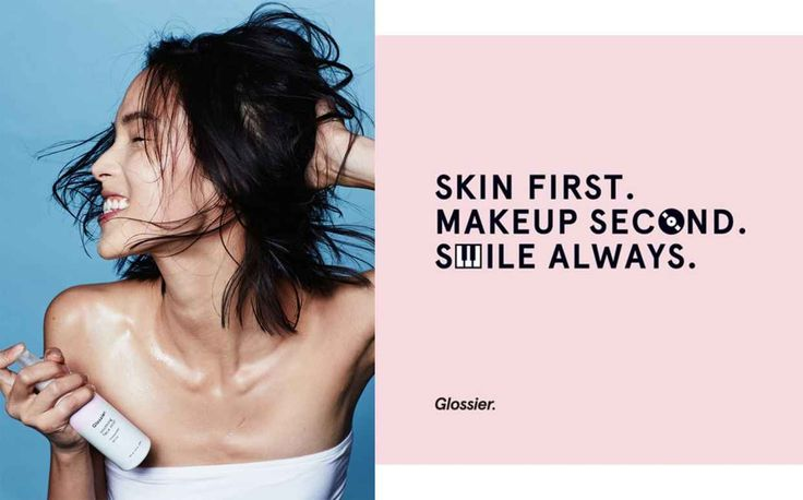 A Glossier advertisement.
