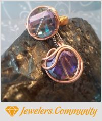 EDITOR'S CHOICE (10/29/2015) Hazy Copper by Annah Kay View details here: http://jewelers.community/creations/2921-hazy-copper
