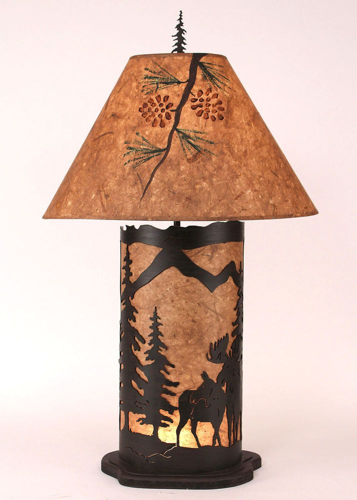 44 best moose lamp images on pinterest buffet lamps elk and moose coast lamp mfg moose scene 335 h table lamp with empire shade coastlampmfg aloadofball Gallery