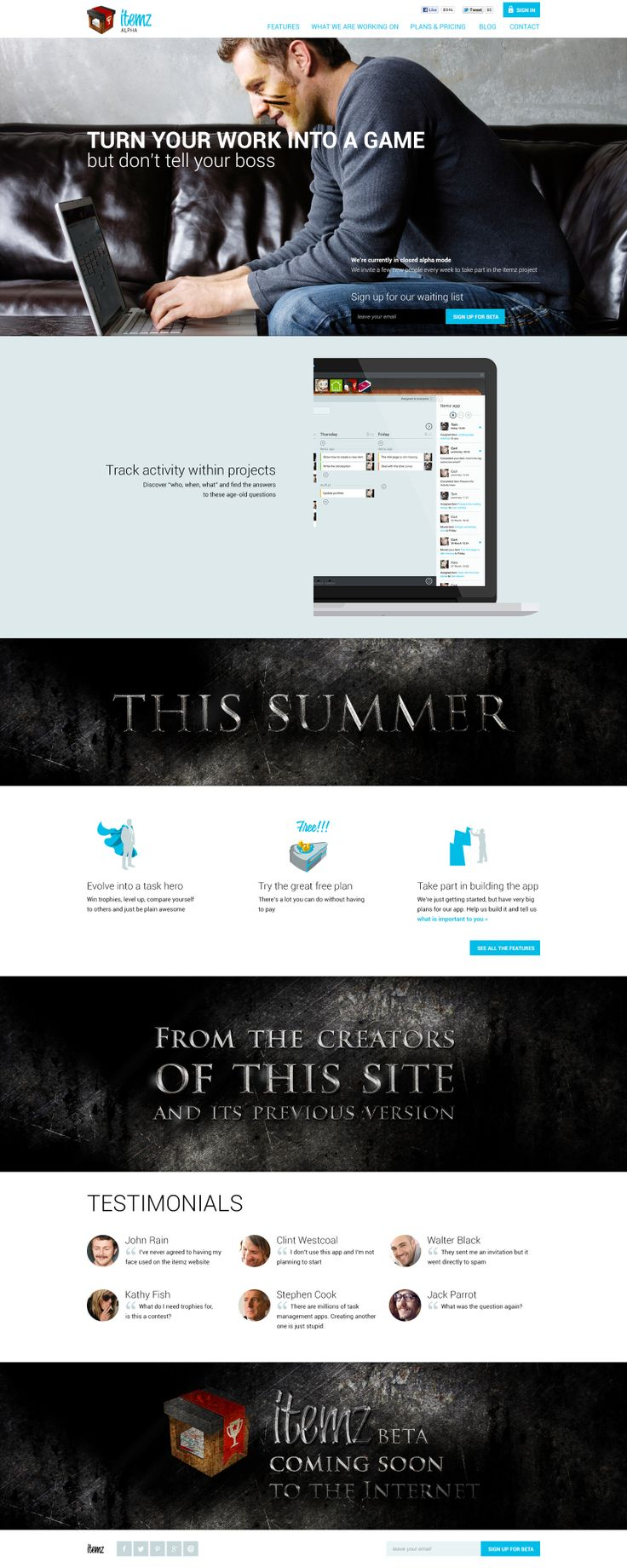 Itemzapp new landing page webdesign. Coming soon...