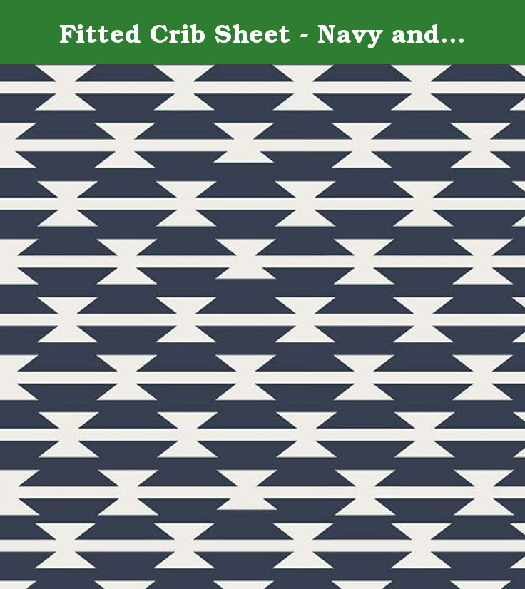 "Fitted Crib Sheet - Navy and White Stripes. Crib sheets are a basic necessity in every nursery. This crib sheet is carefully handmade in premium quality designer cotton fabric. This is a fitted sheet made with elastic all the way around to ensure a snug fit on the mattress. The soft cotton fabric is a great choice for babies while the fabric design will bring a stylish touch to your little one's sleep area. This crib sheet will fit a standard crib/toddler mattress, approximately 28"" x…"