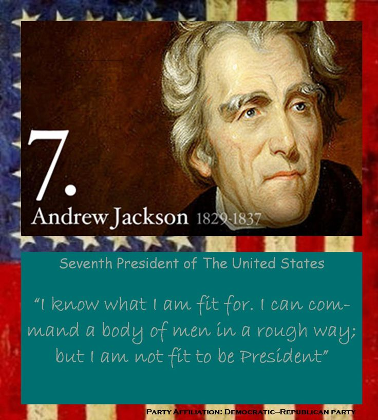 "an analysis of andrew jacksons presidency in the united states Others have a less genteel way of describing the seventh president of the united states ""andrew jackson was a wealthy slave  was unclear on during his presidency."