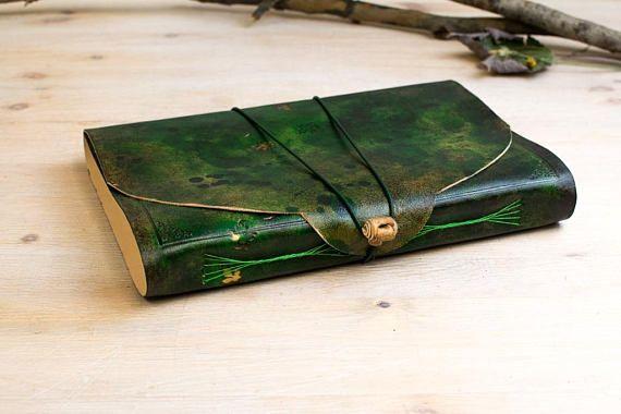 A5 B5 Custom Notebook Forest Green Journal Fairy Tale