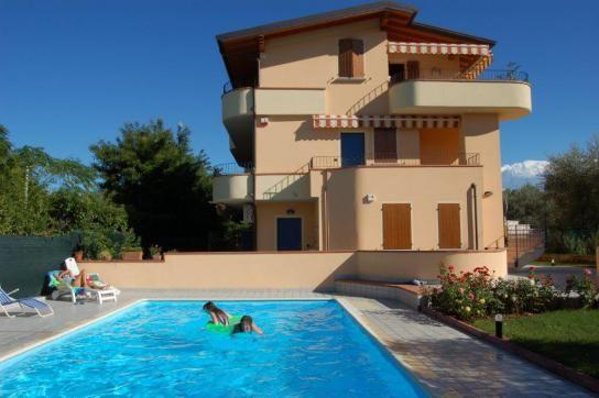 Modern 2-bedroom apartment with pool 200m from the beach at Manerba del Garda, Lake Garda, Italy