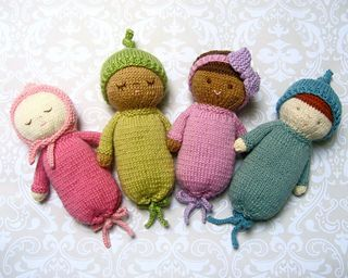 Knit Baby Doll Pattern Set