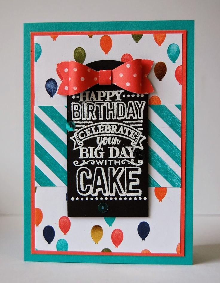 Stampin' Up! UK Independent Demonstrator - Julie Kettlewell: Birthday Bash for Class - Big Day #SAB2015