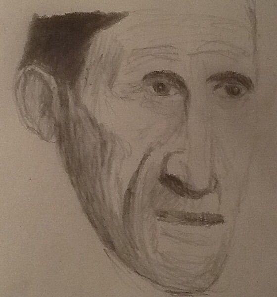 George Orwell, pencil sketch I drew