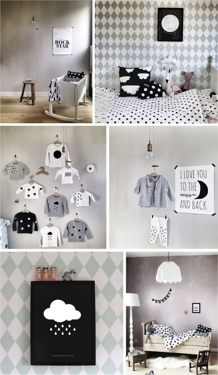 """black & white kids room ideas"""
