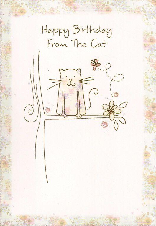 from the CAT happy birthday card - from pet / kitten happy birthday card