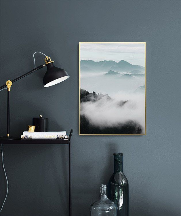 Cloud Mountains Poster In Der Gruppe Poster Grossen Und Formate