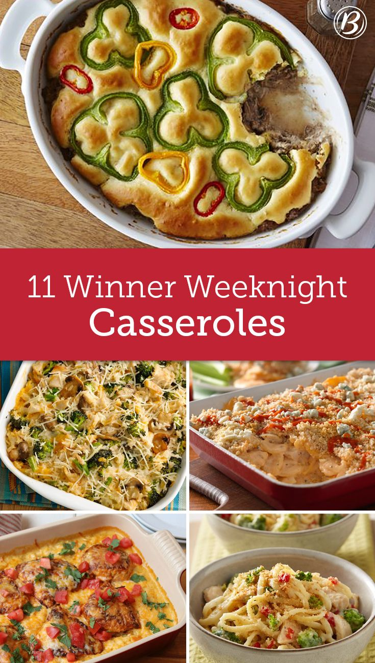 Looking for a new weeknight dinner recipe? Try one of these 11 casseroles for a warm, filling meal that's packed with flavor and nutrition.