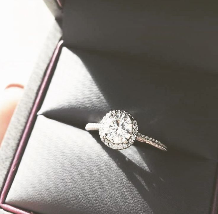 YES :D :D :D Ritani round-cut french-set diamond halo engagement ring