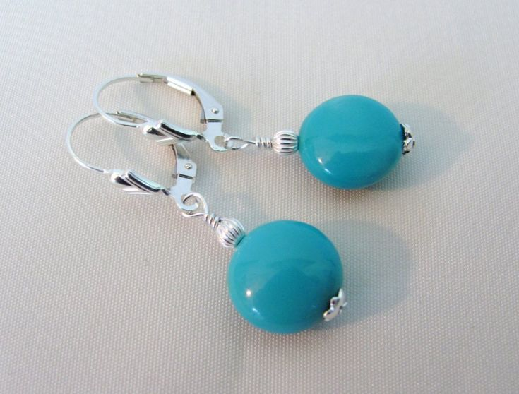 Arizona Turquoise Gemstone Earrings, Sleeping Beauty Turquoise – Lindas Jewelry Shop
