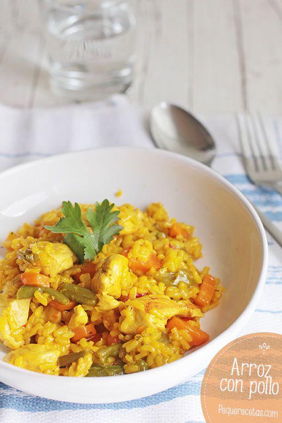 Arroz con pollo y verduras, una receta fácil y familiar