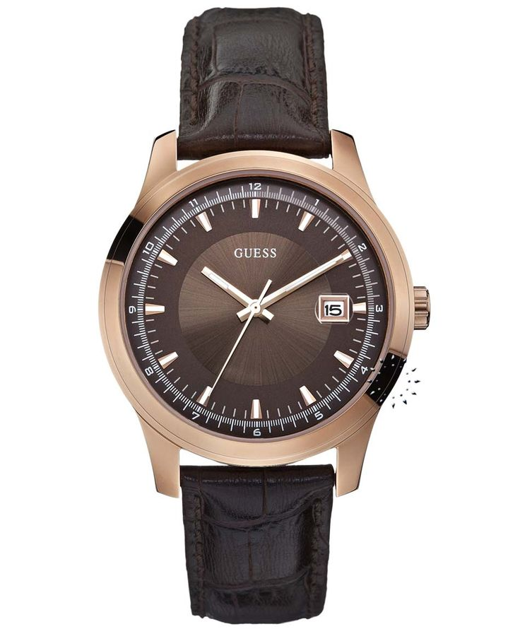 GUESS Rose Gold Brown Leather Strap Η τιμή μας: 126€ http://www.oroloi.gr/product_info.php?products_id=33940
