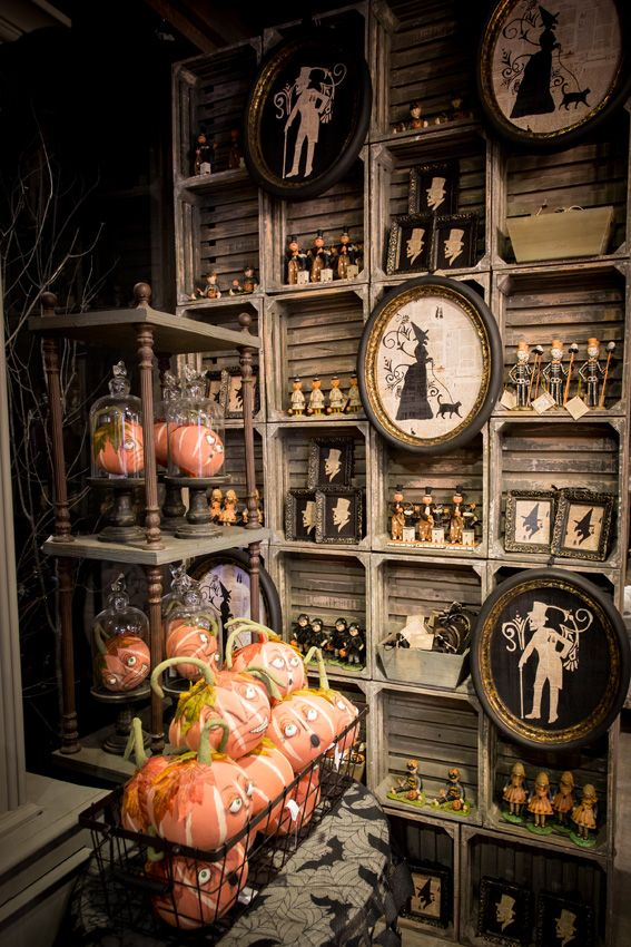 love this rustic halloween shop display