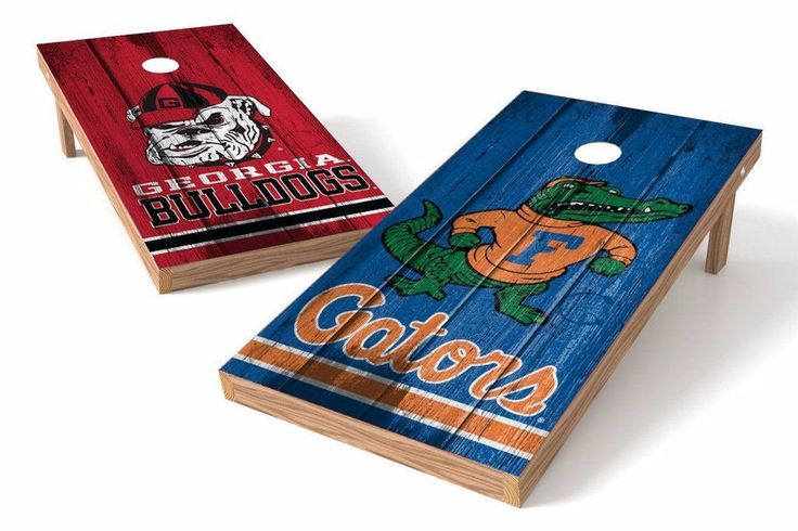 Georgia Bulldogs/ Florida Gators Rivals Cornhole Board Set