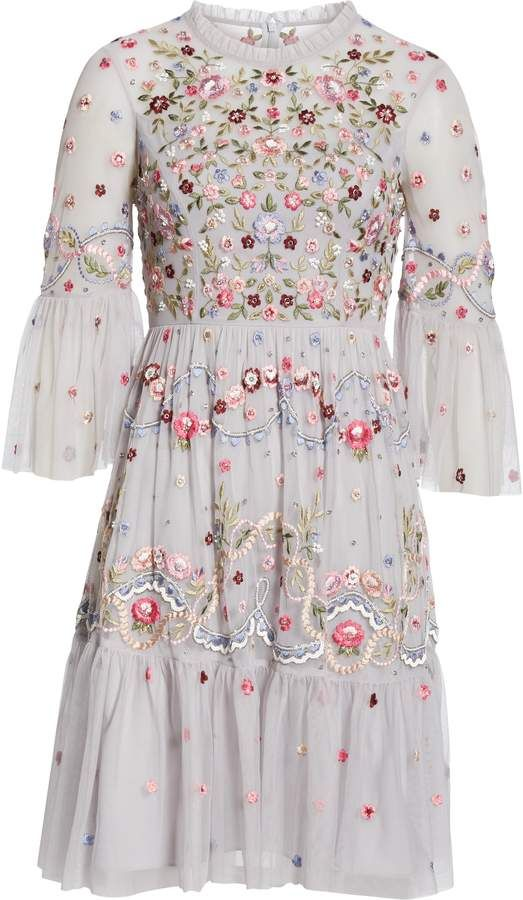 89026c234cd ShopStyle  Needle   Thread Dreamers Embroidered Tulle Dress