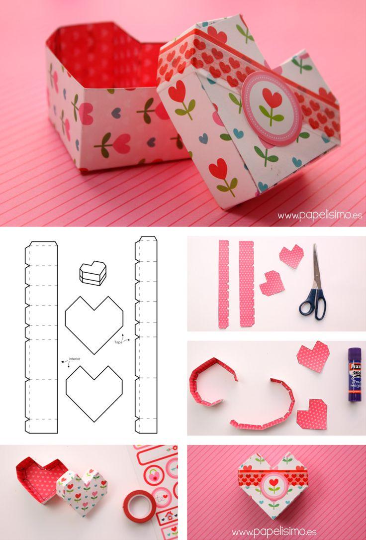 Ms de 25 ideas increbles sobre Plantillas de caja de regalo en