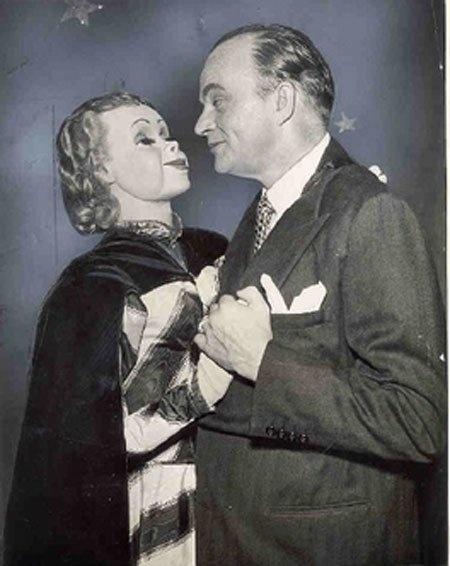 Ventriloquist  dummy- vintage photo...SCARY!!!