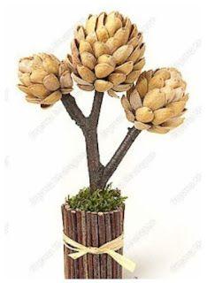 Blog Claudia Tenório: Aprenda a fazer uma linda flor com cascas de pistache!