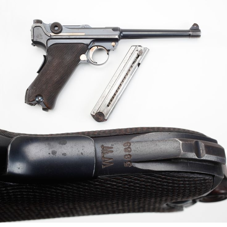 German P04 Naval Luger - Not all of our GOTD candidates made their mark on dry land. This Naval Luger 9mm pistol differs from the more common P08 models by featuring a two-position rear sight adjustable for elevation and a longer barrel.  Our example today also has a marking indicating it was once at Wilhemshaven dockyard. The majority of these pistols were issued to vessels ranging in size from massive cruisers to diminutive torpedo boats.