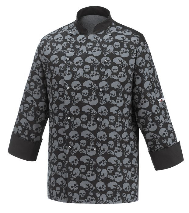 € 45,50 - Chaqueta Cocina Black Skull EGOCHEF