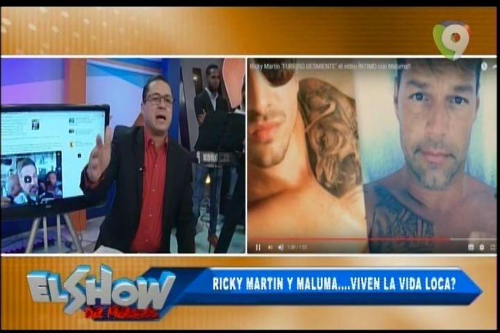 """En El Gizzo De El Show Del Mediodía: Ricky Martin Y Maluma"""" ¿Viven La Vida Loca?"""