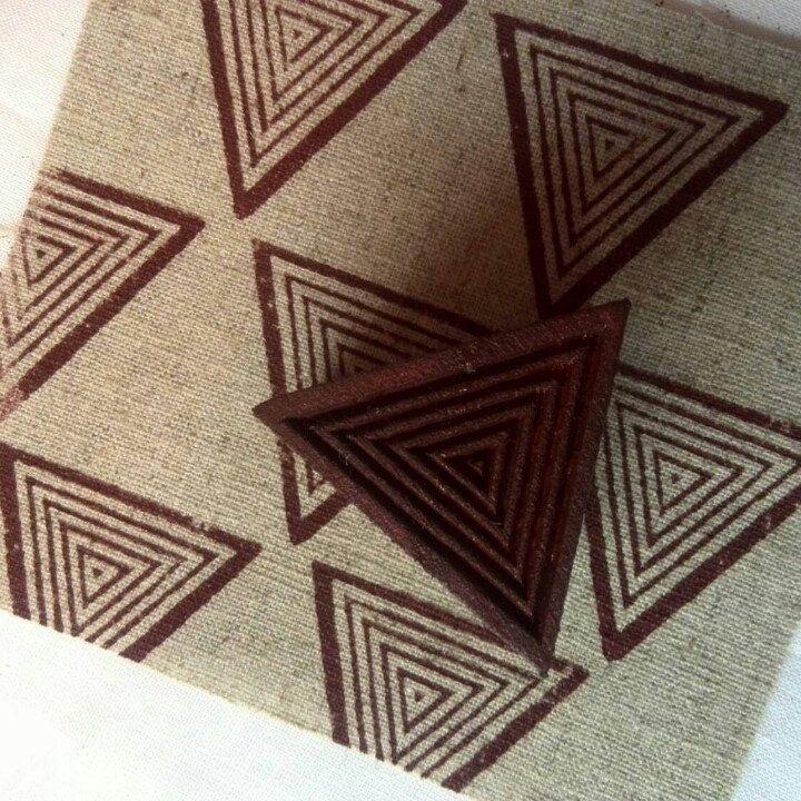 Block print stamp in process-)
