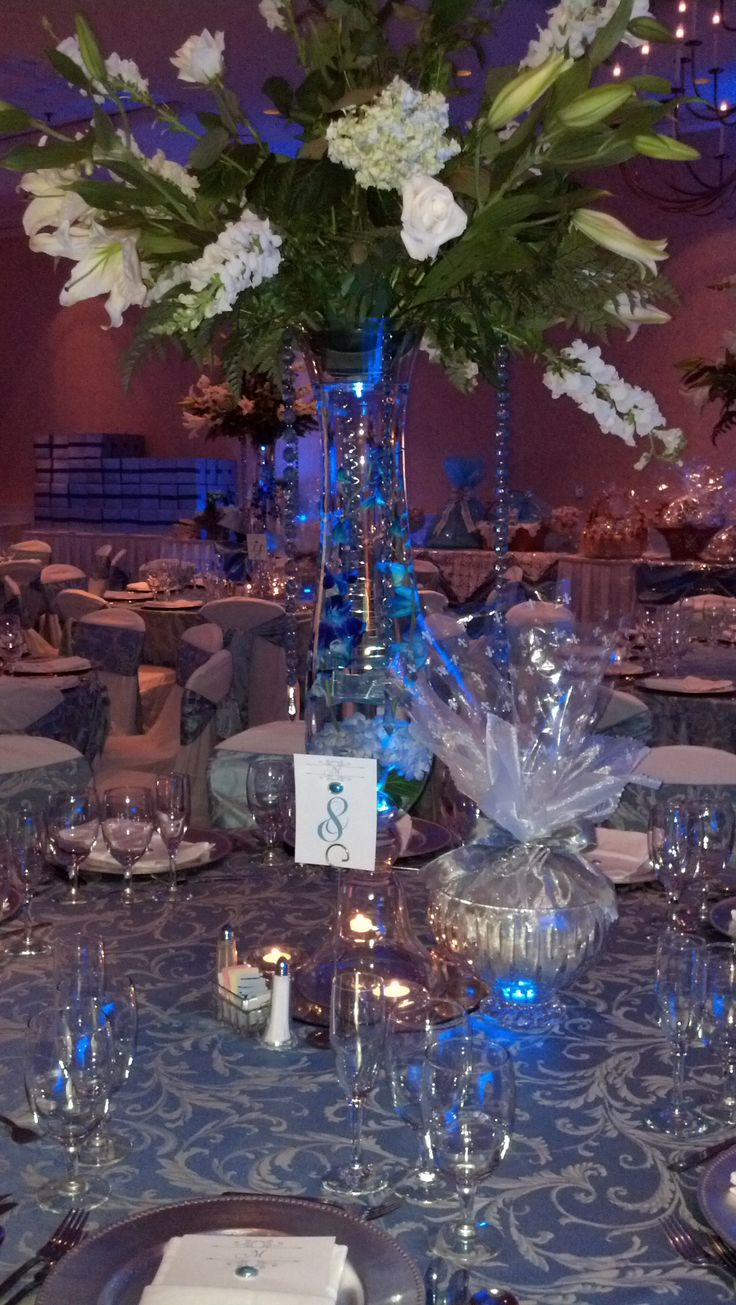 Ballroom Wedding Centerpiece @ Hilton Greenville, SC