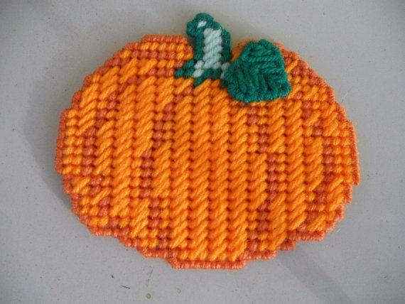 Plastic Canvas Pumpkin.