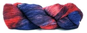 Araucania kettle dyed, hand painted sock yarn