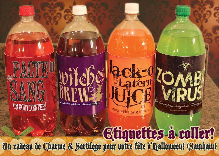 Un cadeau de Charme & Sortilege pour vos Fêtes de Samhain. Voir la série d'images! A gift from Charme & Sortilege... see the labels serie!
