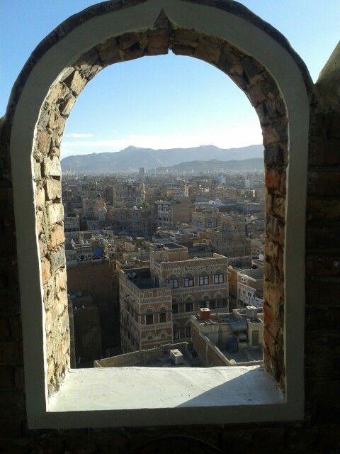 one of my favorite views in Sanaa, Yemen.