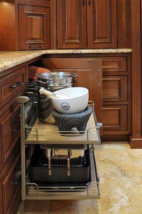 Corner Kitchen Cabinet Storage Ideas 13 best blind corner cabinet organization images on pinterest