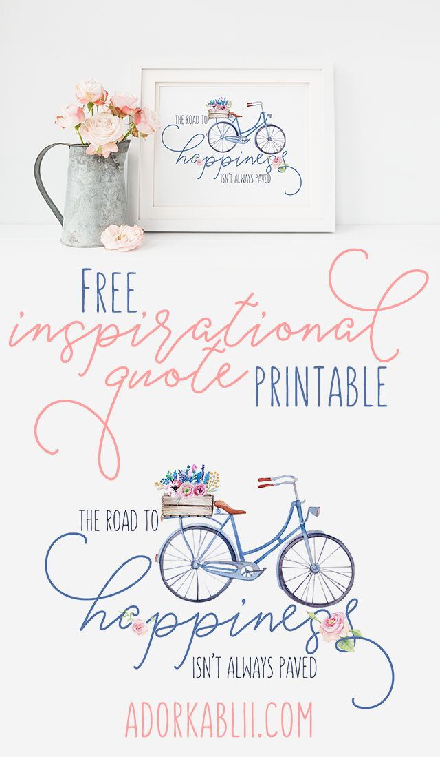 As someone who suffers from Depression & Anxiety, I find that Inspirational Quotes are a great thing to have. This is the reason behind today's Printable! #FreePrintable