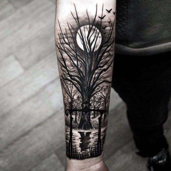 Deep and Super Cool Forest Tattoo Ideas (37)