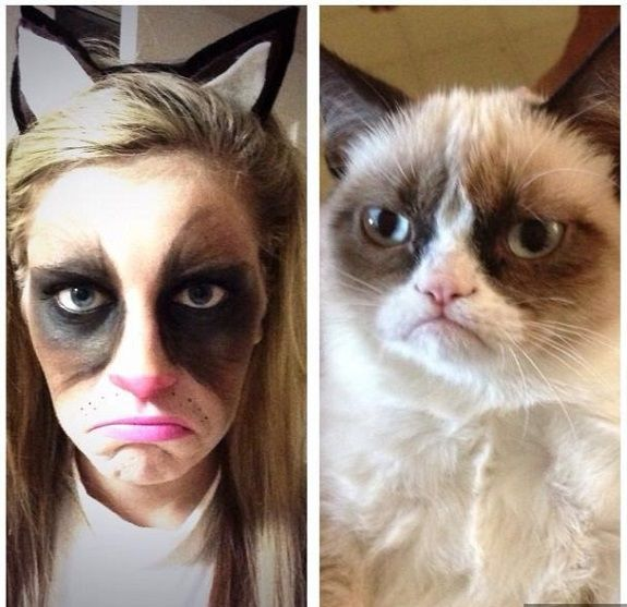 Grumpy Cat: Halloween Makeup Ideas (great gallery)