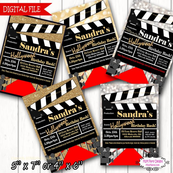 Red Carpet Movie Party Invitation Printable Invitation DIY Printable Hollywood Invite by M2MPartyDesigns on Etsy https://www.etsy.com/listing/478216739/red-carpet-movie-party-invitation