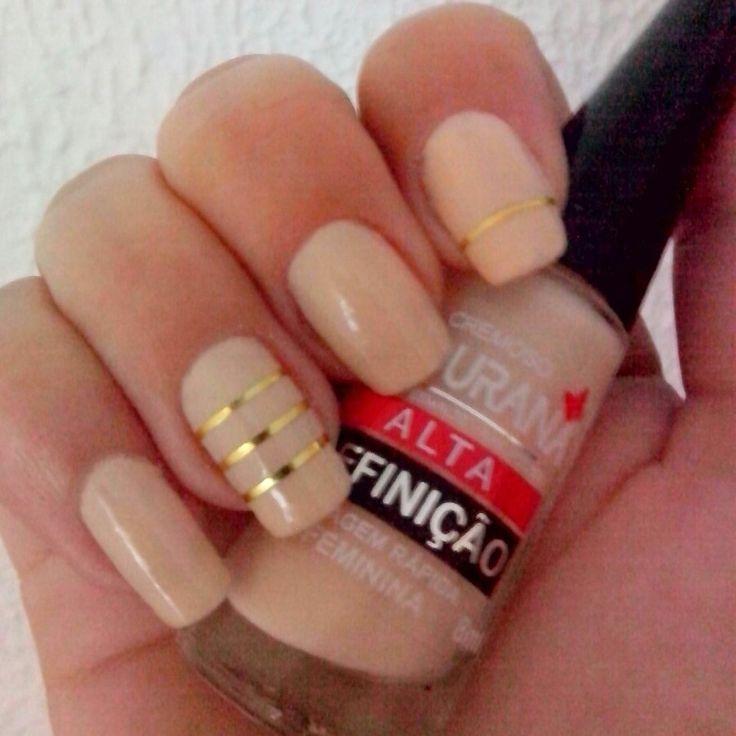 #nails #saturday #fashion #art #nude #gold