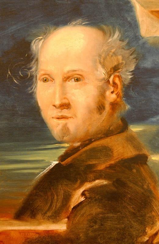 """Montefortino, Fermo, Italy Pinacoteca Civica """"Fortunato Duranti"""" Fortunato Duranti, Autoritratto, olio su tela, 1835-1840 ca.   Fonte: internet"""