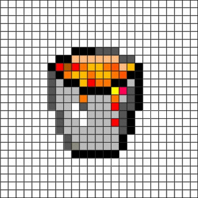 Perler Bead Minecraft Crafting Table