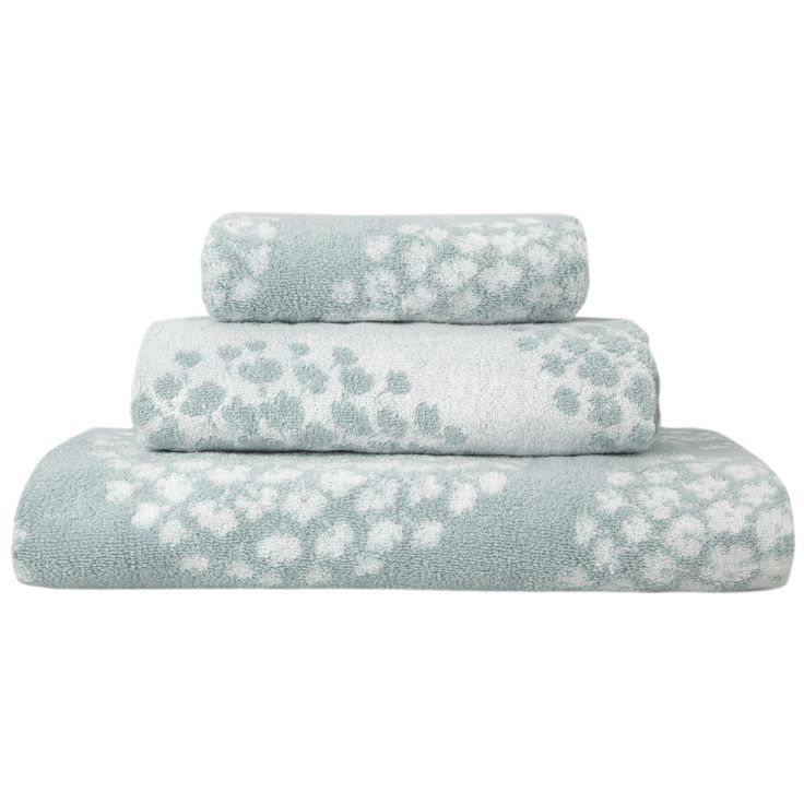 Coco Duck Egg Jacquard Towels