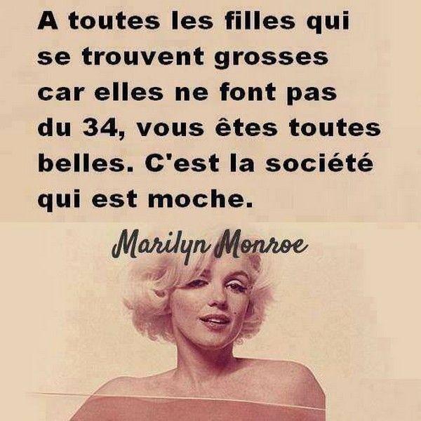 Magnifique citation de Marylin Monroe♥