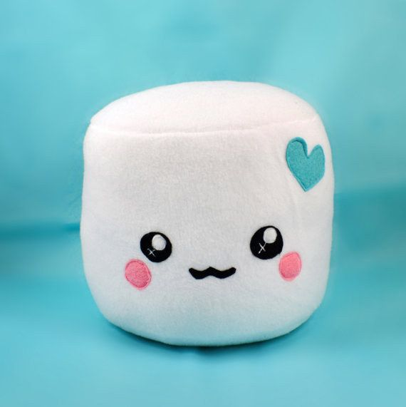 An inconceivably cute marshmallow plushie.